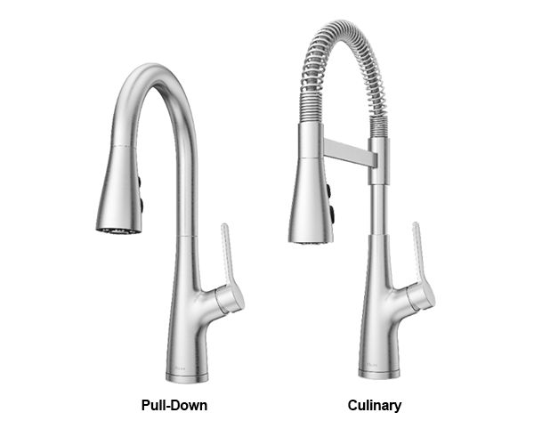 pull down kitchen faucet & culinary style kitchen faucet