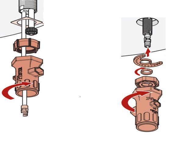 Removing handle mounting hardware