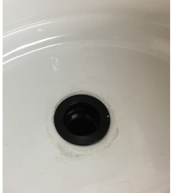 Check Washer or Putty Seal in sink bowl