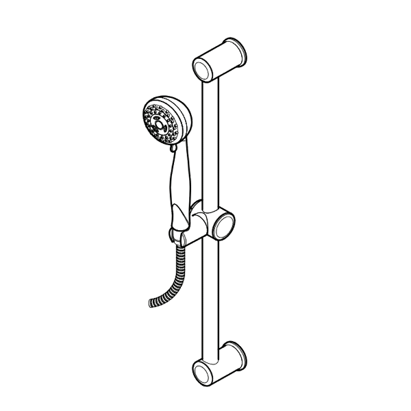 Primary Product Image for Pfirst Series 3-Function Hand Held Shower and Slide Bar