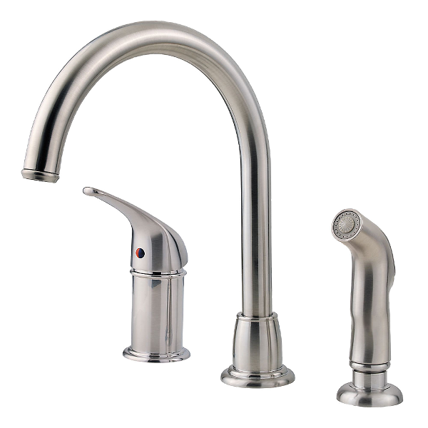 Stainless Steel Cagney Lf Wk1 680s 1 Handle Kitchen Faucet Pfister Faucets