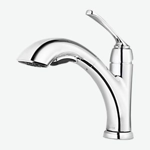 Polished Chrome Wray F 534 7wryc 1 Handle Pull Out Kitchen Faucet Pfister Faucets