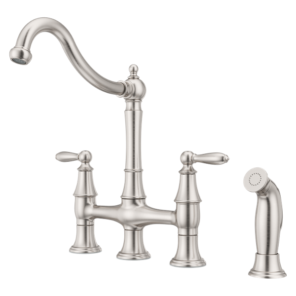 Primary Product Image for Courant 2-Handle Bridge Kitchen Faucet with Side Spray