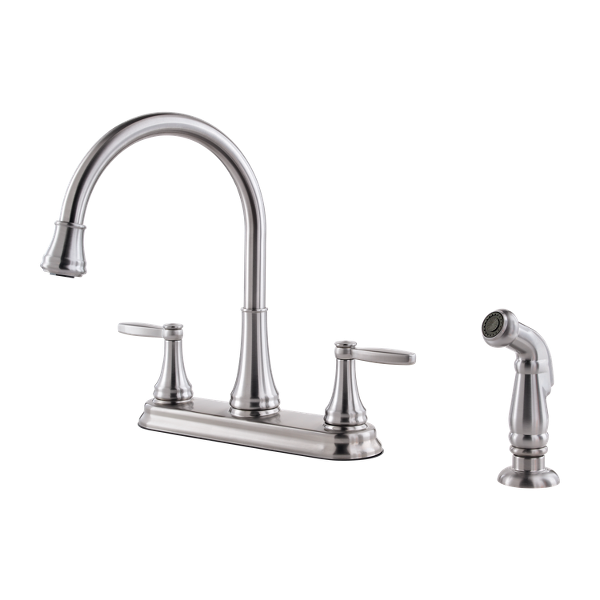 Stainless Steel Glenfield F-036-4GFS 2-Handle Kitchen Faucet ...