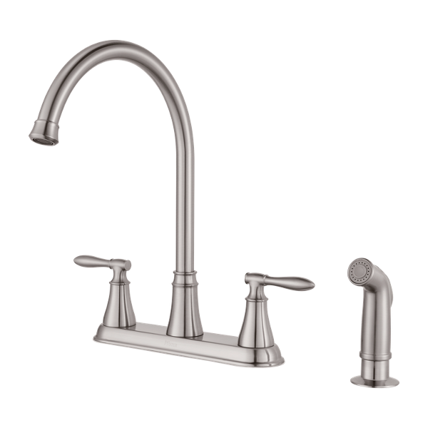 Stainless Steel Glenora F 036 4gns 2 Handle Kitchen Faucet Pfister Faucets