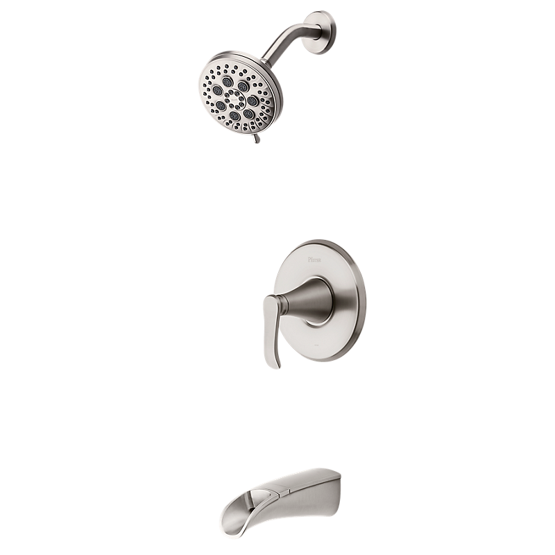 Jaida Tub & Shower in Spot Defense Brushed Nickel