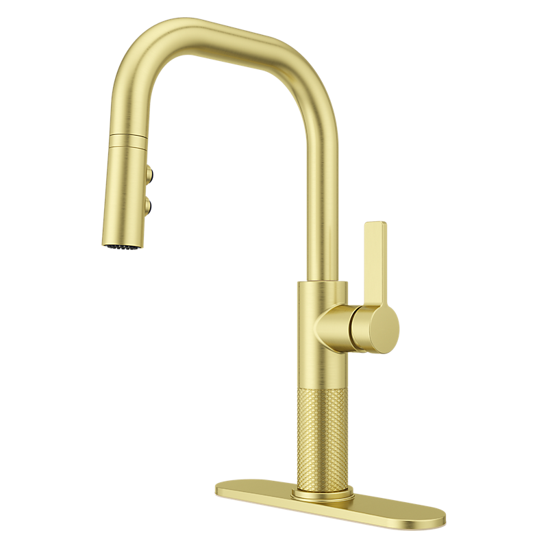 Montay Kitchen Faucet in Brushed Gold