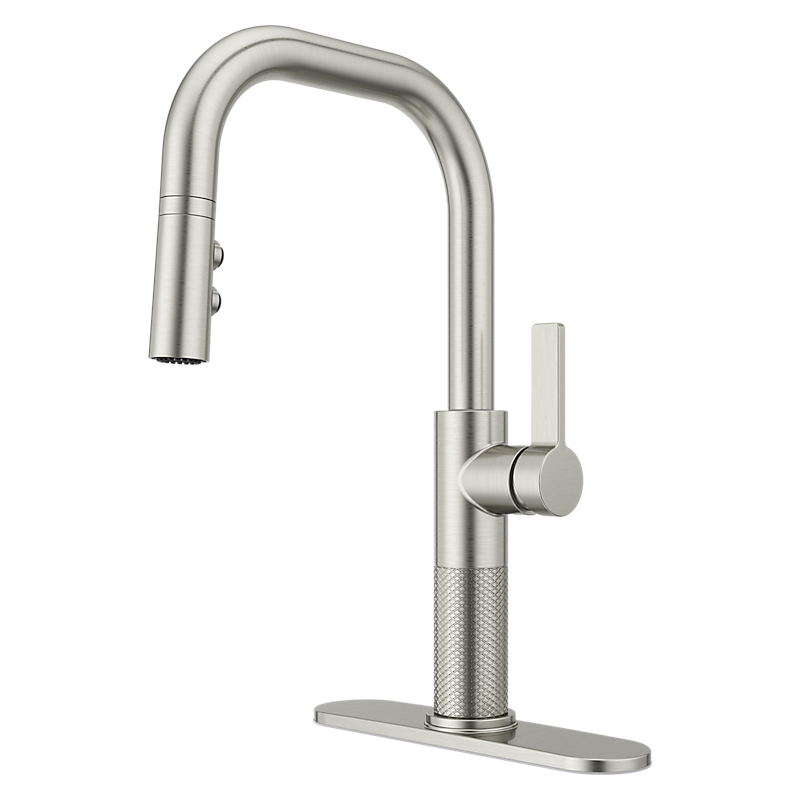 Montay Kitchen Faucet in Stainless Steel