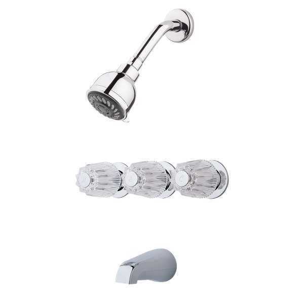 Primary Product Image for Pfirst Series 3-Handle Tub & Shower Faucet