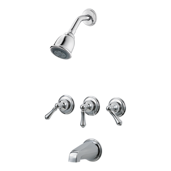 Primary Product Image for Pfister 3-Handle Tub & Shower Faucet
