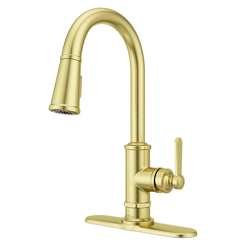 Port Haven Kitchen Faucet in Brushed Gold