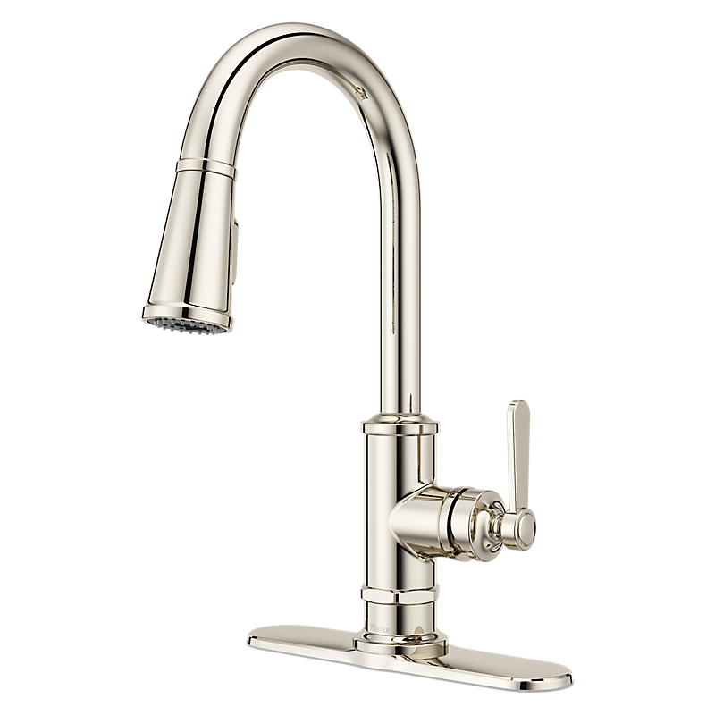 Port Haven Kitchen Faucet in Polished Nickel