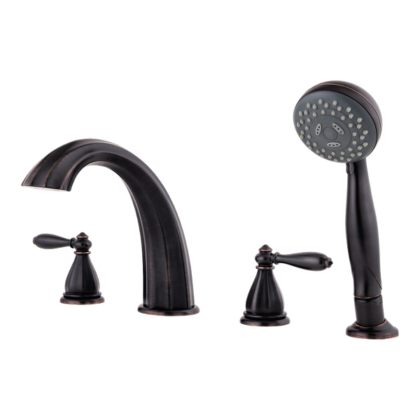 Primary Product Image for Portola 2-Handle Complete Roman Tub Trim with Hand Held Shower