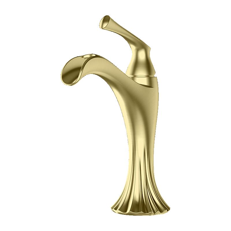 Matte Black Rhen in Brushed Gold