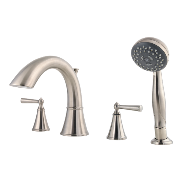 Primary Product Image for Saxton 2-Handle Complete Roman Tub Trim with Hand Held Shower