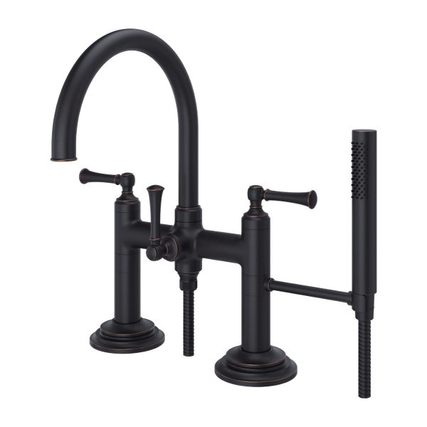 Primary Product Image for Tisbury Deck Mount 2-Handle Tub Filler with Hand Shower