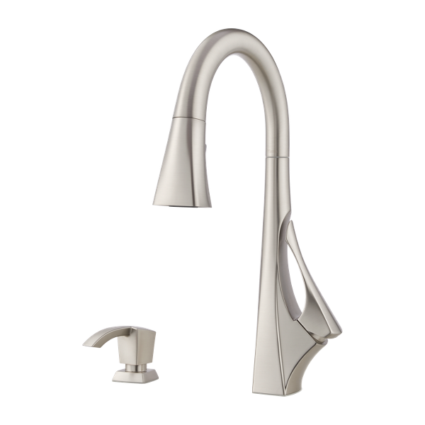 Spot Defense Stainless Steel Venturi F 529 7vngs 1 Handle Pull Down Kitchen Faucet Pfister Faucets