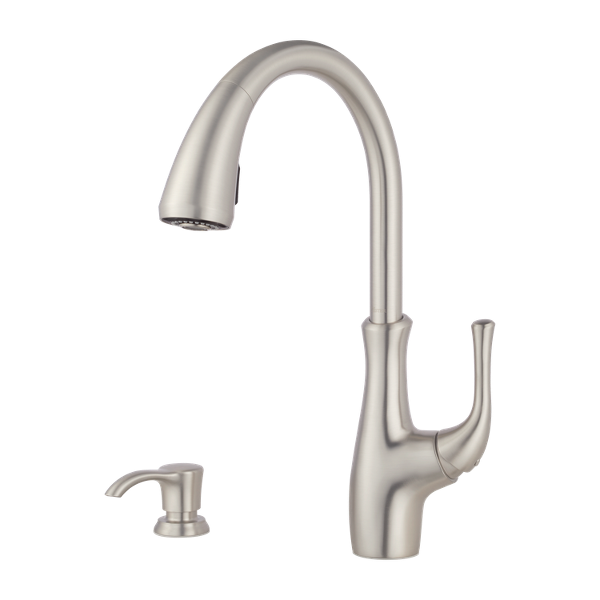Spot Defense Stainless Steel Vosa F 529 7vvgs 1 Handle Pull Down Kitchen Faucet Pfister Faucets